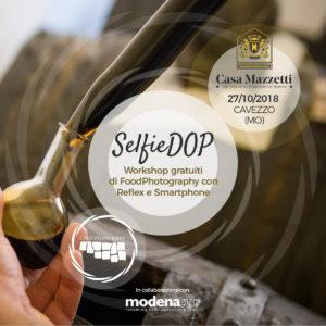 SelfieDOP e Balsamico: tornano i workshop di Food Photography