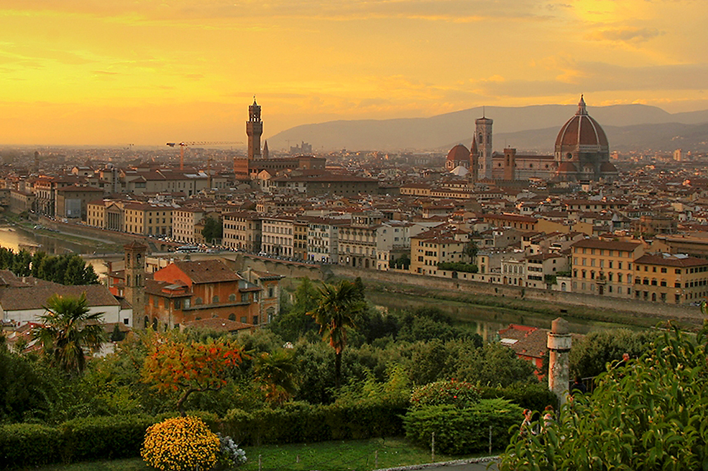 Panoramic view over Florence