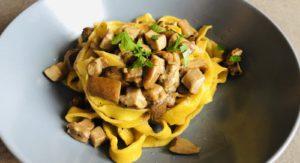 Homemade Tagliatelle with Porcini Mushrooms