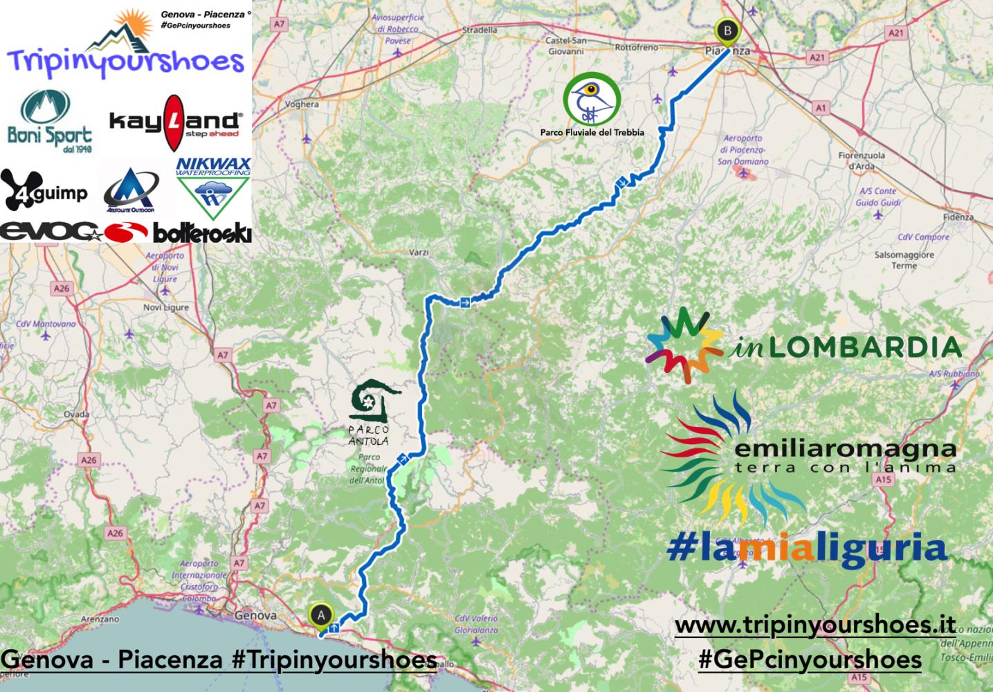 TripInYourShoes: a piedi da Genova a Piacenza