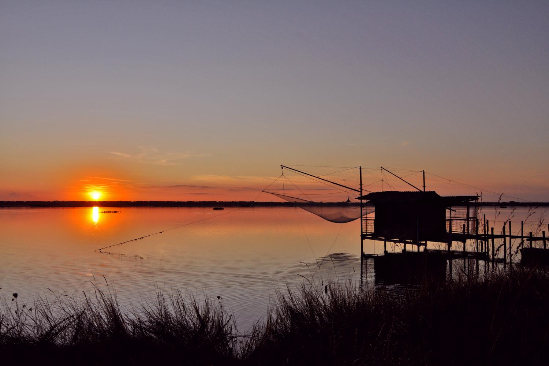 Sunset at Marina Romea (Ravenna) | Photo © Alessandra Monti, via Mapio.net