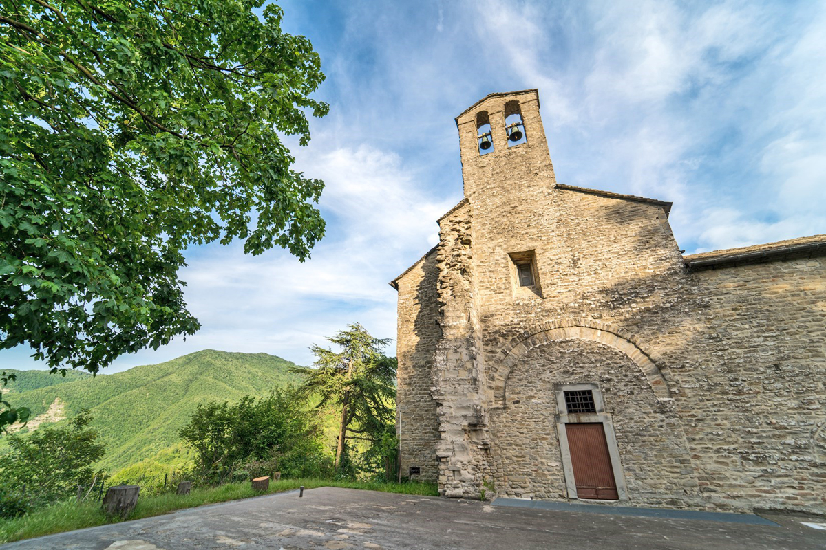 The Abbey of San Benedetto in Alpe