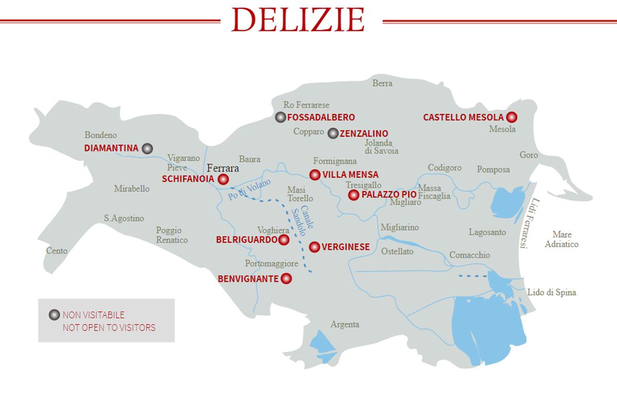 Delizie Estensi | Mappa