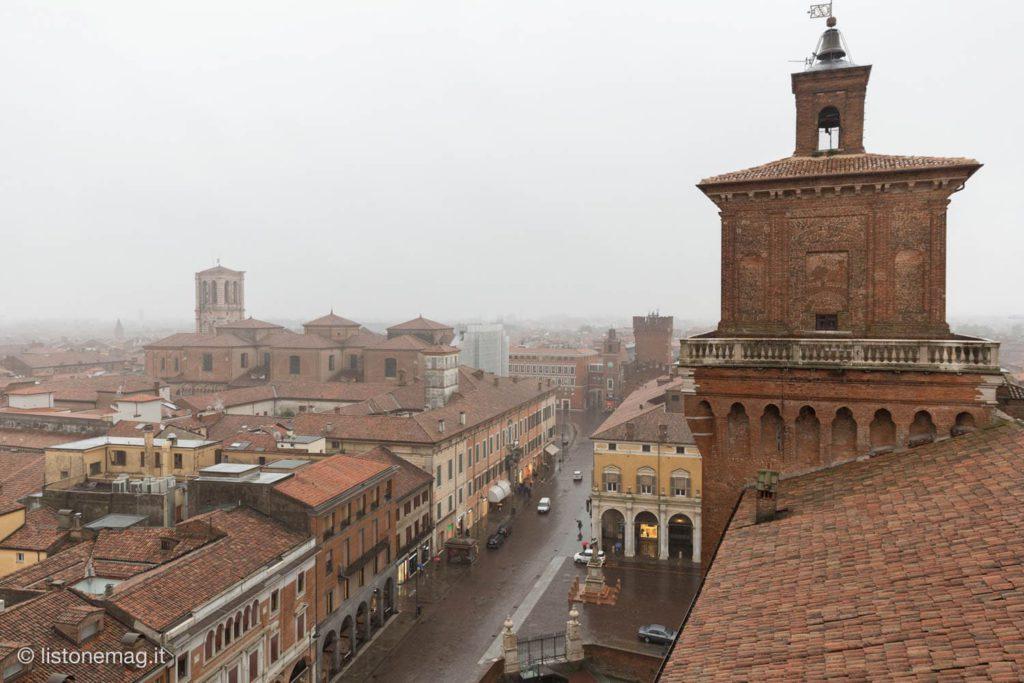 Ferrara – Torre dei Leoni panorama dall'alto   Ph. listonemag.it