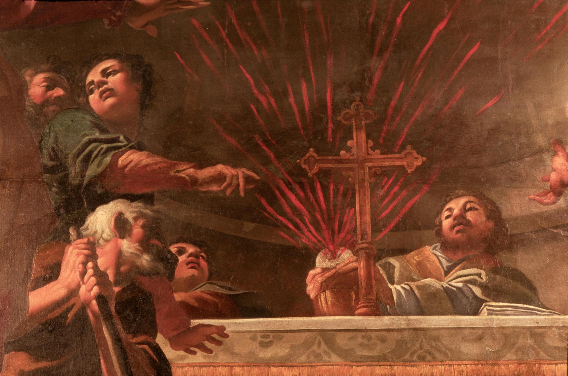 Ferrara, Chiesa di santa Maria in Vado, particolare dipinto di C. Bononi,  ph. Samaritani