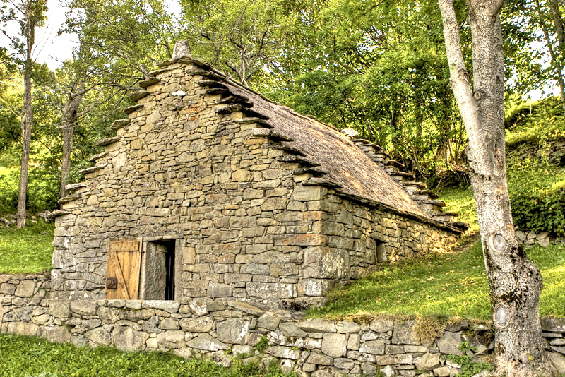 "The Celtic houses called ""the Casoni,"" Fiumalbo"
