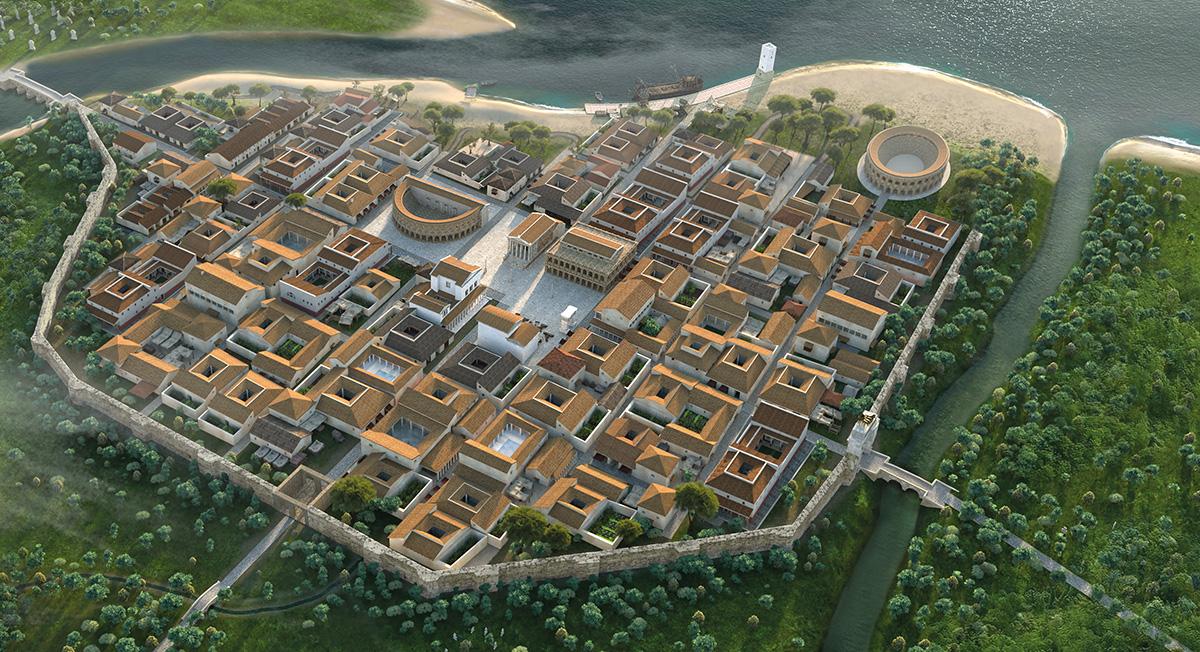 Rimini in the Roman age - 3d reconstruction