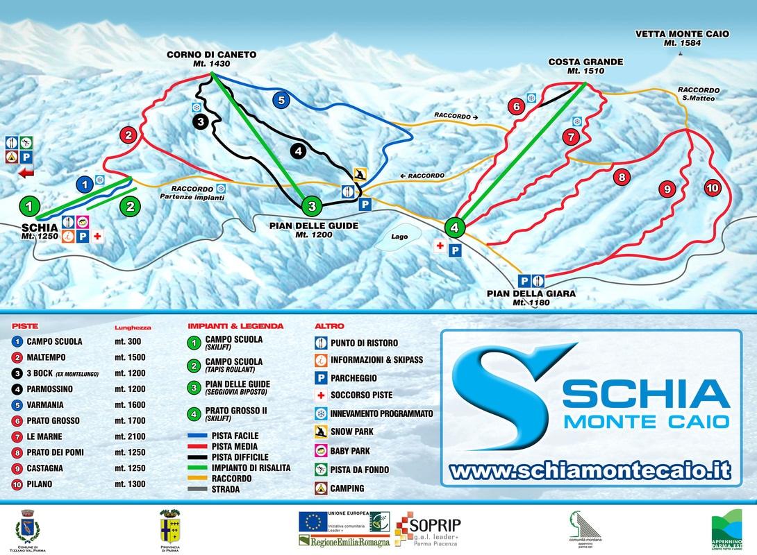 schia monte caio sci