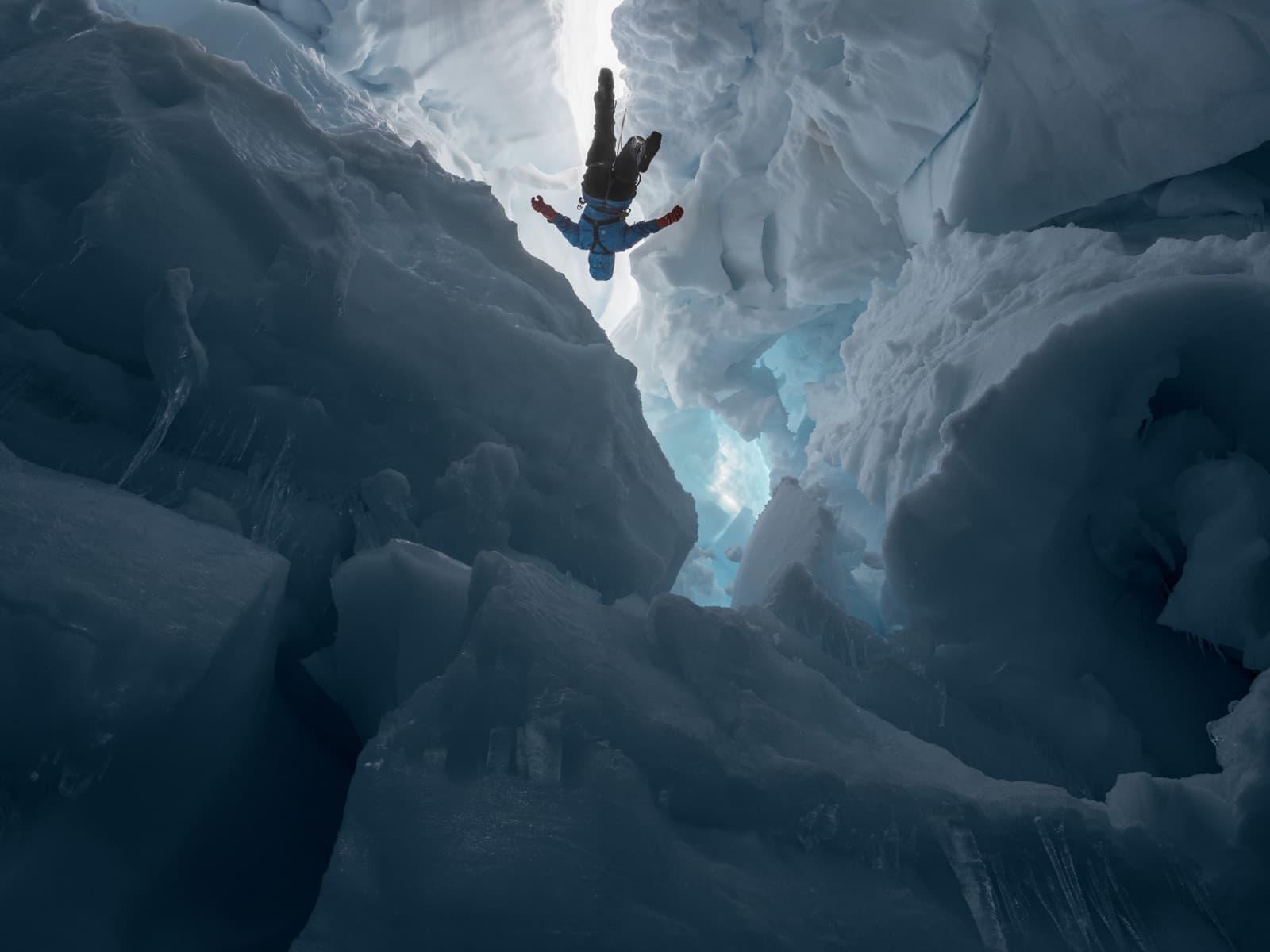 Lucas Foglia – Human Nature – Kenzie inside a melting glacier