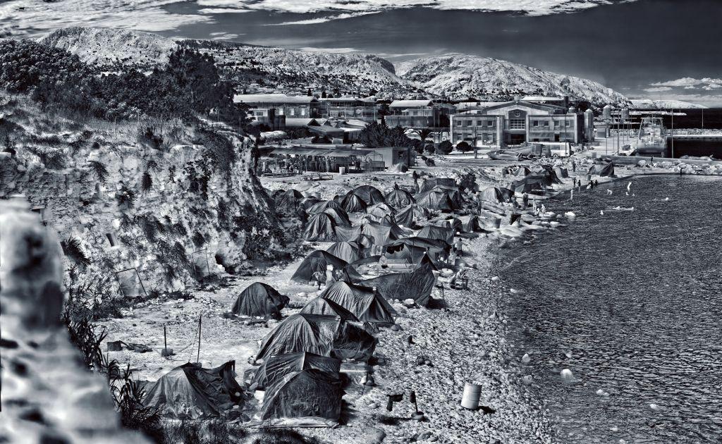 Souda Camp, Chios Island, Greece, 2017, Heat Maps series ©Richard Mosse, MOCAK Collection, Krakow